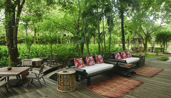 elegant decor at a resort in Khon Kaen, Thailand