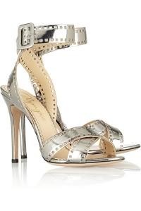 charlotte olympia metallic heels