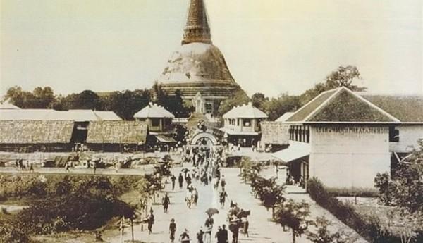Phra Pathom Chedi wide angle (Large)