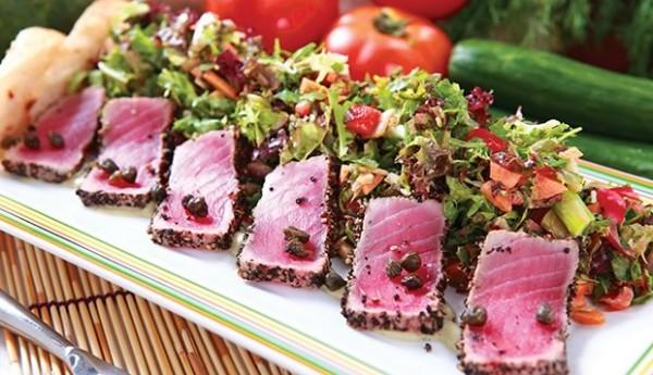 seared tuna salad