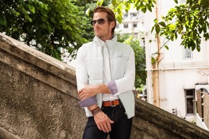 Model wears #82 Los Angeles - A casual button-down collared shirt