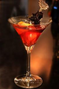 Roselle-Cosmo Martini