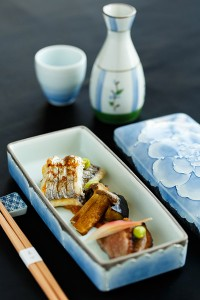 Tanabata - Kaiseki, Kamoeggplant, duck, cutlassfish, Edame, Elingi Mushroom, Japanese ginger offspring, Spicy leek miso sauce, pepper