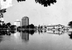 Pond in  Lumpini Park