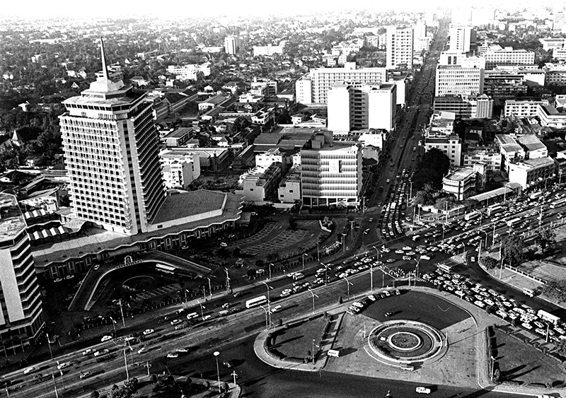 Rama IV Road in the 1970s
