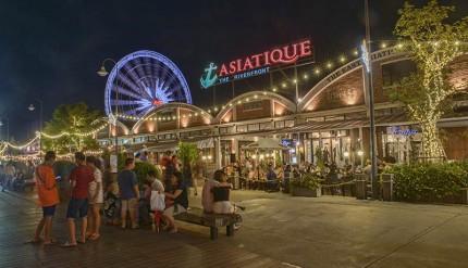 Asiatique, the night market on the Chao Phraya River, Bangkok, Thailand