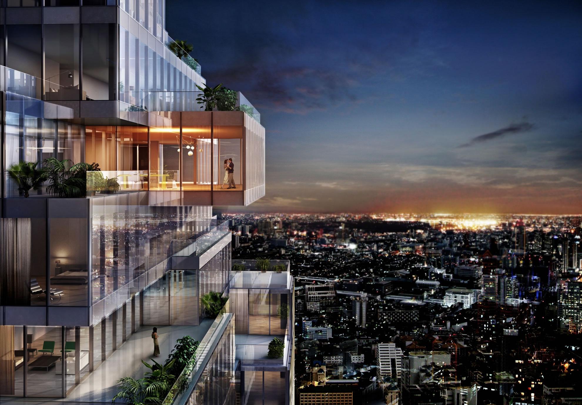 Ledaean architecture mahanakhon oma bangkok view02 1 for Bangkok architecture