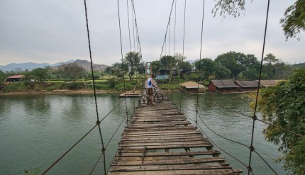Bicycling in rural Thailand
