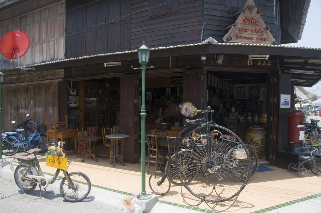 unicycle and other antiques in Hua Hin Thailand