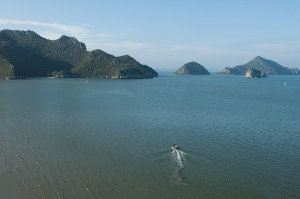 beautiful coastal scenery in Khao Sam Roi Yot National Park in Thailand