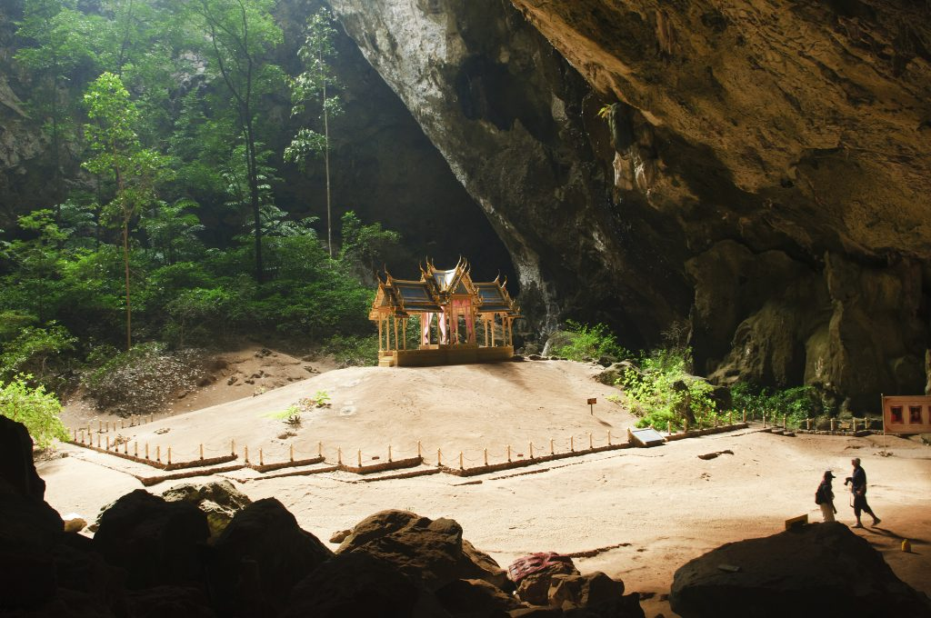 the surreal Phraya Nakhon Cave and throne pavilion in Khao Sam R