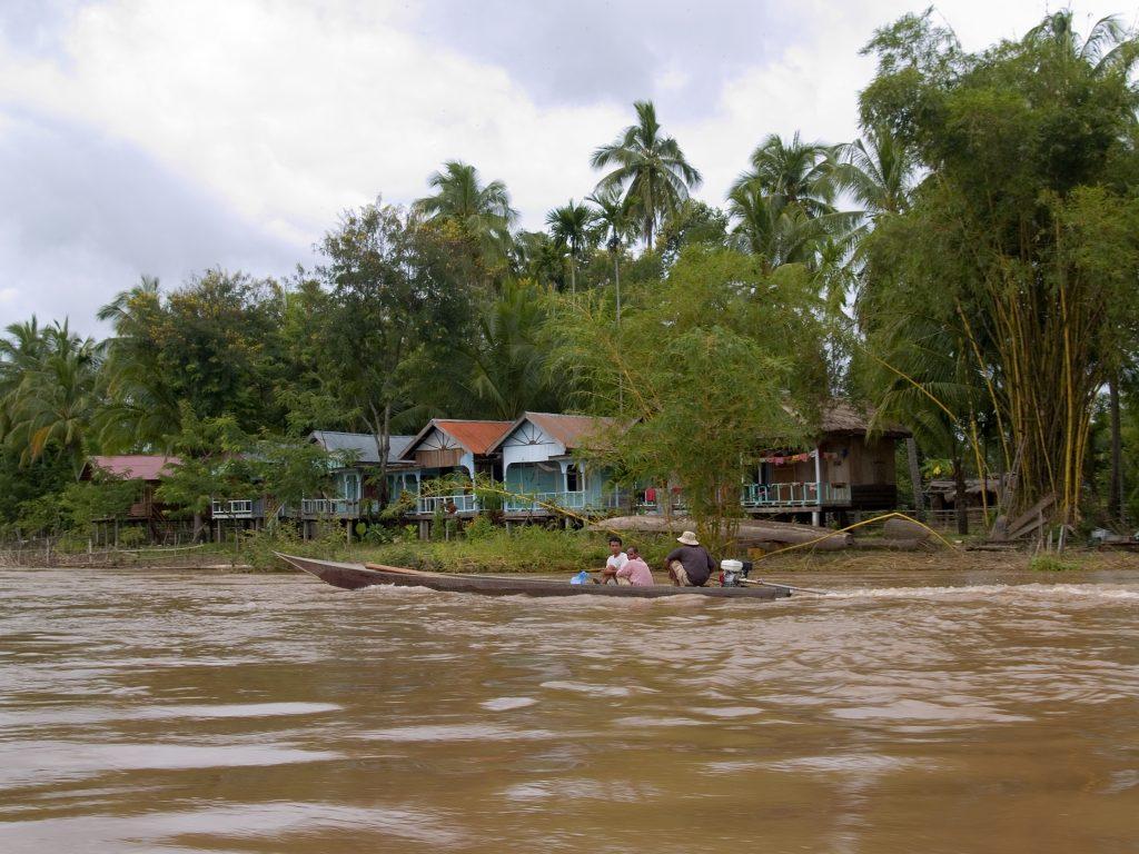 Mekong River life in southen Laos