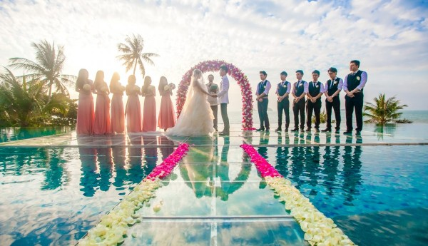 Over-water Wedding at Conrad Koh Samui - Ceremony Scene